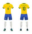3d realistic uniform brasil football vector image