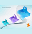 abstract background timeline roadmap vector image
