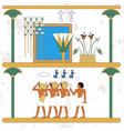 ancient egypt background oasis cane and water vector image vector image