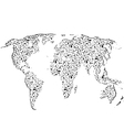Arrows world map vector image vector image