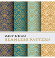 Art Deco seamless pattern 04 vector image vector image