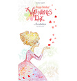 Beautiful watercolor greeting card with fashion vector image vector image