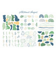 big set hand drawn organic shapes abstract vector image