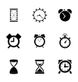 black time icons set vector image vector image