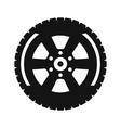 Black wheel flat icon vector image vector image