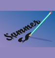 bright pencil inscription summer vector image vector image