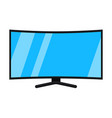 cartoon black hd tv isolated on white vector image