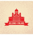 Cathedral the symbol Of Helsinki Finland Simple vector image vector image