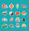 China icons stickers vector image vector image