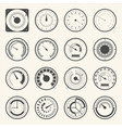 circular meter collection of round gauge icons set vector image vector image