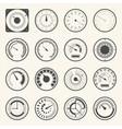 circular meter collection round gauge icons set vector image
