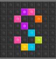 colorful brick block letter s flat design vector image