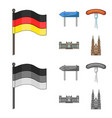 country germany cartoonmonochrome icons in set vector image vector image