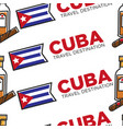 cuba travel destination national flag rum and vector image vector image