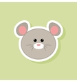 cute mouse face vector image
