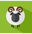 Cute Ram Background vector image vector image
