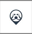 dog head icon logo template vector image