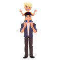 father and son playing happy fathers day greeting vector image vector image