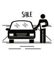 figure salesman avatar silhouette vector image