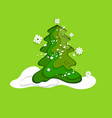 fir tree green vector image vector image