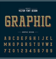 font and alphabet line typeface and number vector image