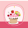 fruit cupcake vector image vector image