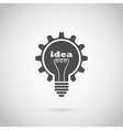 Gear bulb vector image