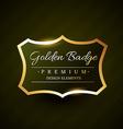 golden badge premium label design vector image vector image