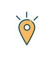 gps pointer location destination social media line vector image vector image