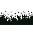 graduates crowd silhouette college graduates vector image vector image