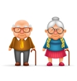 Happy Cute Old Man Lady Grandfather Granny 3d vector image vector image
