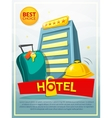 Hotel poster vector image