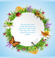 insects round frame vector image vector image