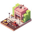 isometric sweets shop vector image vector image