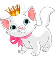 kitten princess vector image