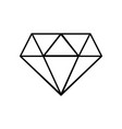 line beauty luxury diamond gen accessory vector image vector image