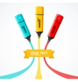 Marker highlighter concept vector image