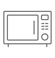 microwave oven thin line icon kitchen and cooking vector image vector image