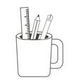 pencil cup holder icon vector image