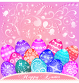 postcard at Easter eggs vector image