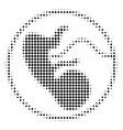 prenatal halftone icon vector image