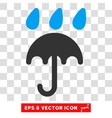 Rain Protection Eps Icon vector image
