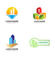 real estate template logo and icon vector image