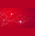 red media social network connetction background vector image