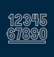 retro regular numbers collection for use in logo vector image