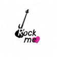 rock music banner musical sign background rock vector image vector image