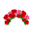 rose flower ornament decoration ready vector image vector image