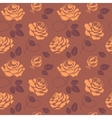 Roses seamless pattern in brown colors vector image vector image