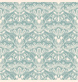 seamless detailed lace pattern on blue background vector image vector image