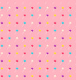 seamless pattern with lollipop sweet candies vector image vector image